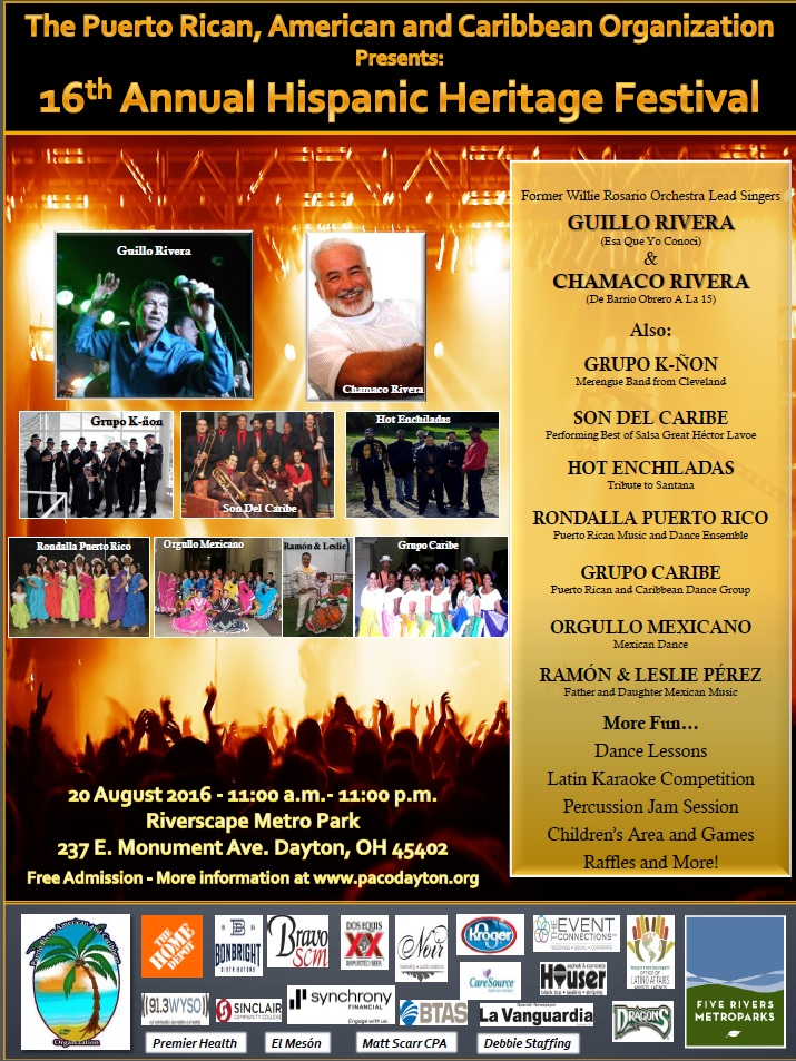 16th Annual Hispanic Heritage Festival @ Riverscape MetroPark | Dayton | Ohio | United States