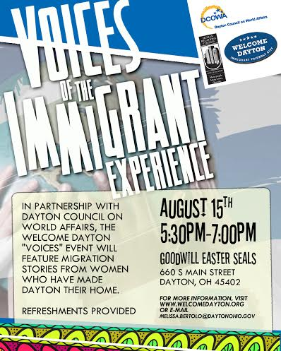 Voices of the Immigrant Experience at Goodwill Easter Seals @ Goodwill Easter Seals | Dayton | Ohio | United States