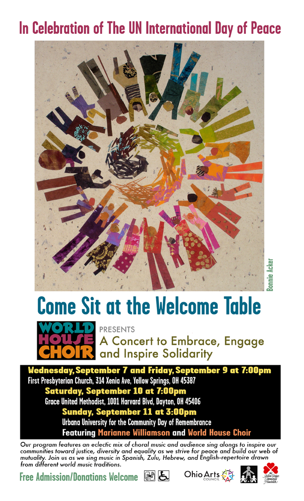 """""""Come Sit at the Welcome Table"""" - CONCERT @ Grace United Methodist   Dayton   Ohio   United States"""