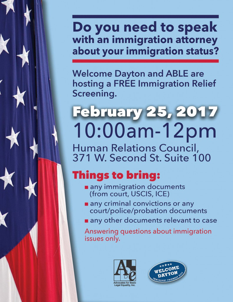 Immigration Relief Screening
