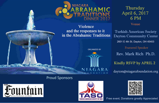 Niagara Foundation Abrahamic Faiths Tradition Gathering 2017 @ Turkish American Society Dayton Community Center | Dayton | Ohio | United States