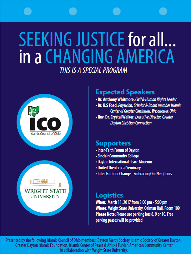 Seeking Justice for All in a Changing America @ Wright State University (109 Oelman Hall) | Fairborn | Ohio | United States
