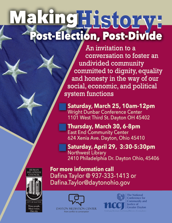 Making History: Post-Election, Post-Divide @ Northwest Library | Dayton | Ohio | United States
