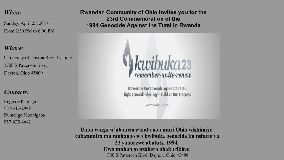 Rwandan Community of Ohio Flyer