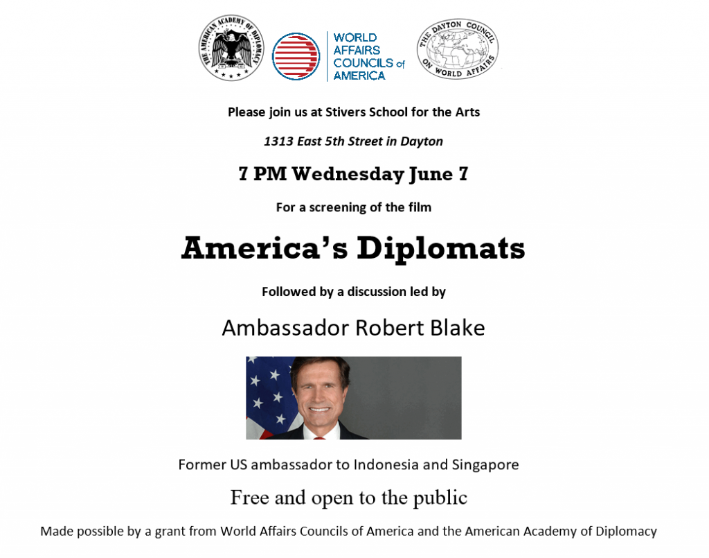 Film Screening & Discussion: America's Diplomats @ Stivers School for the Arts | Dayton | Ohio | United States