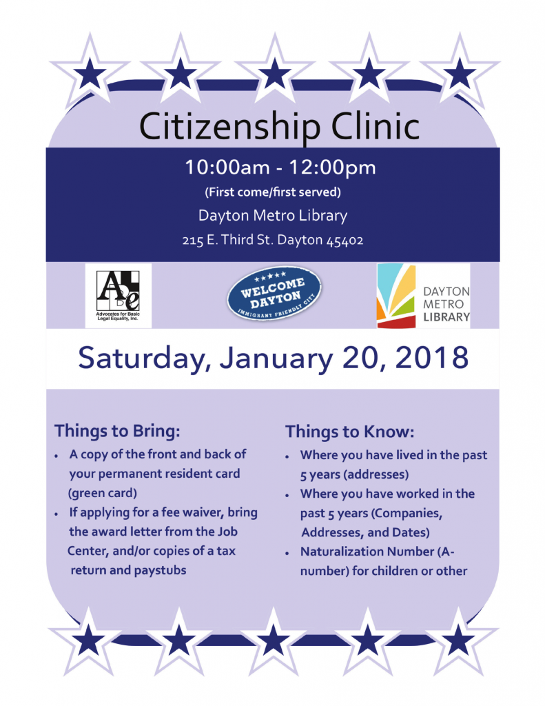 Citizen Clinic Jan 2018 Revised