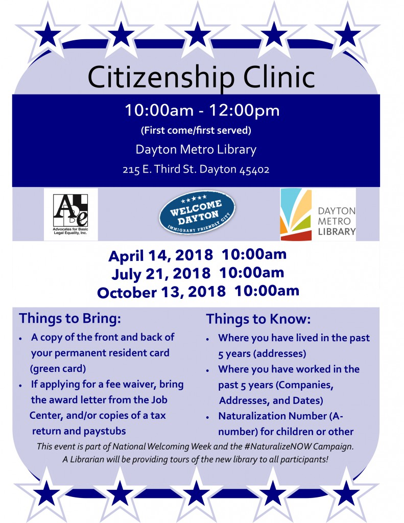 Citizenship Clinic @ Dayton Metro Library | Dayton | Ohio | United States