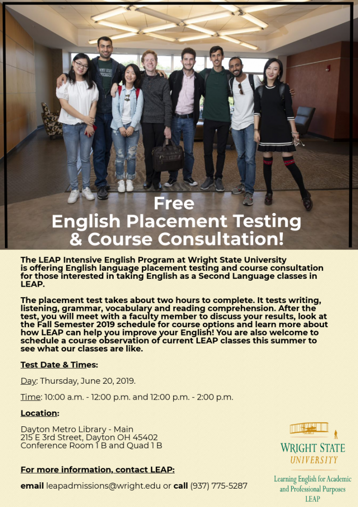 LEAP Free Testing and Consultation Summer 2019