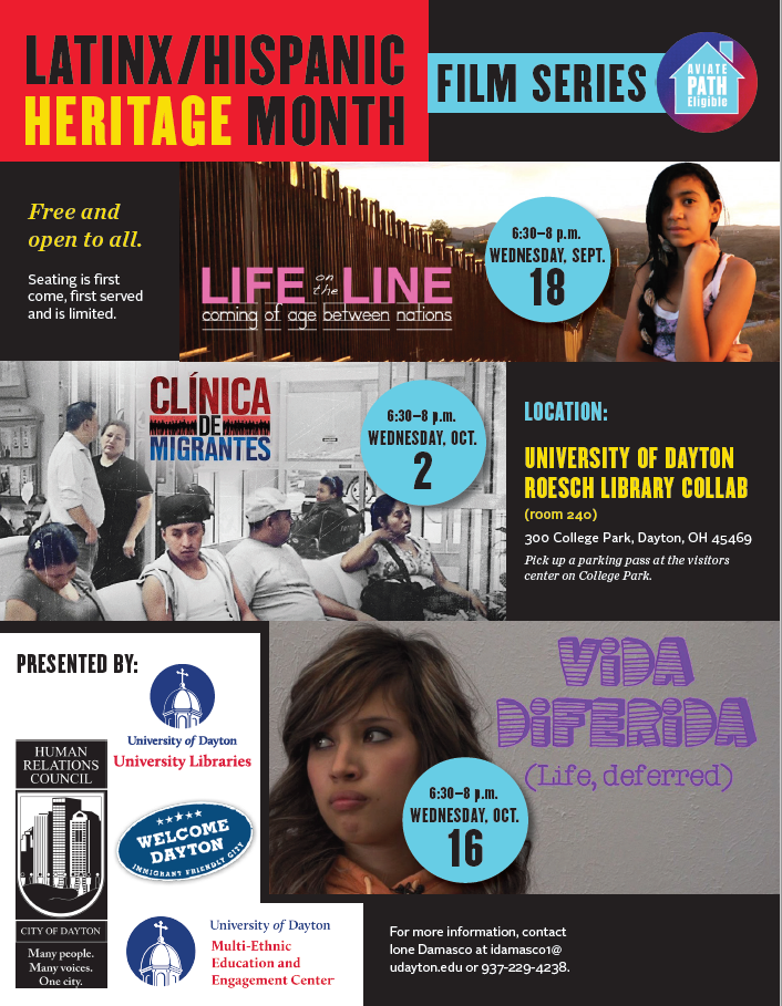 Hispanic Heritage Film Series @ University of Dayton Roesch Library Collab (room 240) | Dayton | Ohio | United States